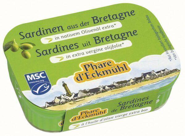 Phare d´Eckmühl Sardinen mit Olivenöl 13x115g