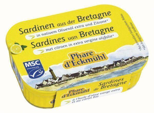 Phare d´Eckmühl Sardinen mit Olivenöl und Zitrone 13x115g