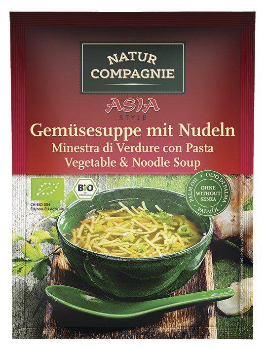 Natur Compagnie ASIA Gemüsesuppe mit Nudeln 12x40g