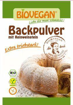 Biovegan BIO Backpulver mit Reinweinstein 12x68g