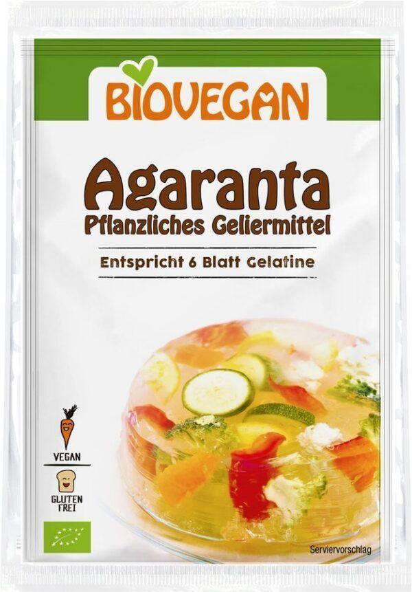 Biovegan Agaranta, pflanzliches Geliermittel, BIO 10x3x6g