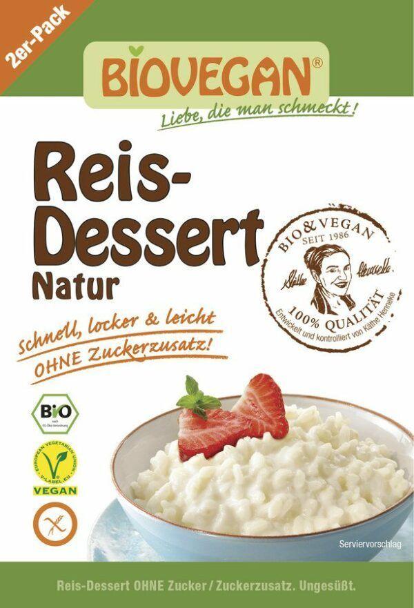 Biovegan  Reis-Dessert Natur, BIO 5x2x54g