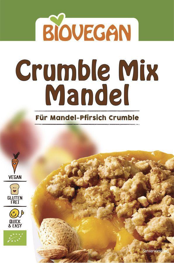 Biovegan Crumble Mix Mandel, Bio 8x124g