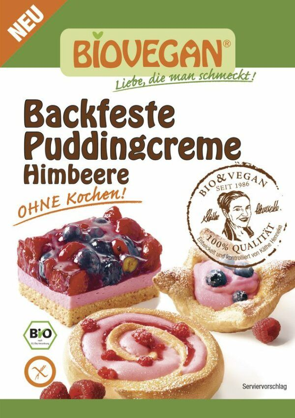 BioveganVitabella Backfeste Puddingcreme Himbeere, BIO 10x52g