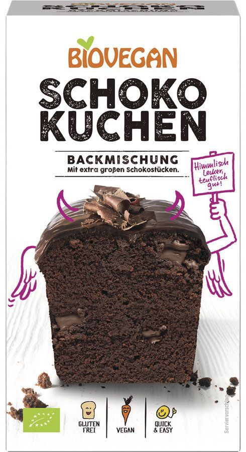 Biovegan Kuchenbackmischung Schoko, BIO 4x380g