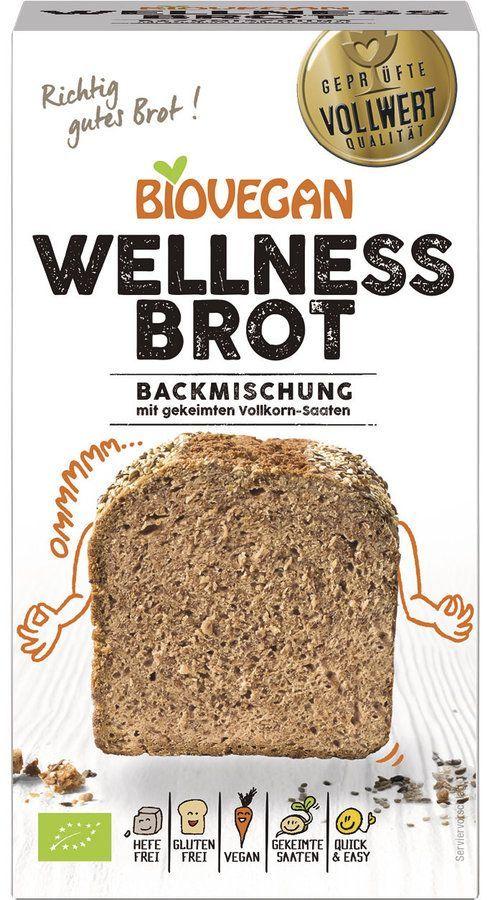Biovegan Brotbackmischung Wellness, BIO 4x320g