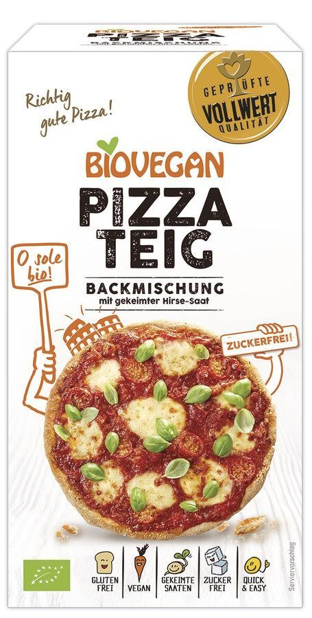 Biovegan Backmischung Pizzateig, BIO 4x300g