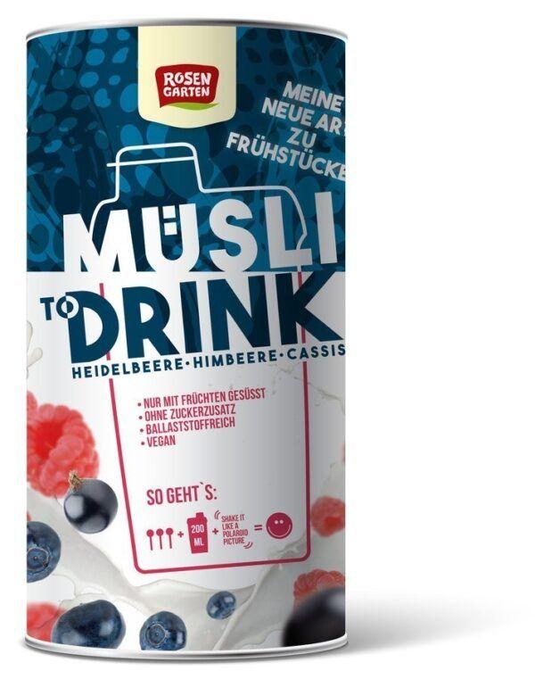 Rosengarten Müsli to Drink - Heidelbeere Himbeere 6x500g