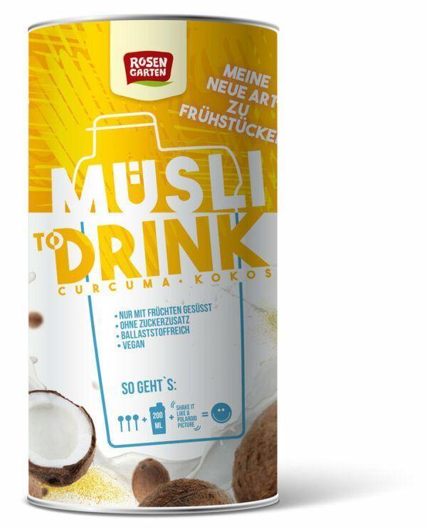 Rosengarten Müsli to Drink - Curcuma Kokos 6x500g