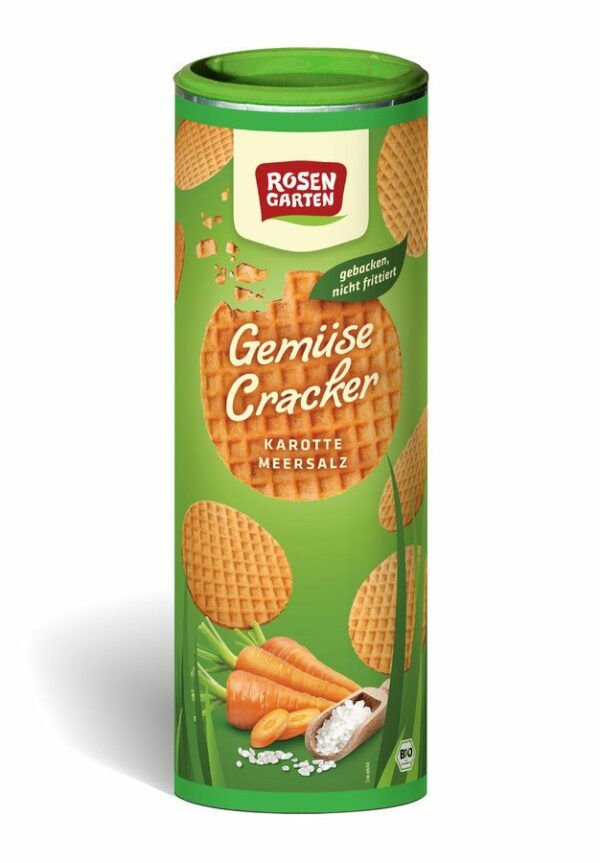 Rosengarten Gemüse Cracker Karotte Meersalz 6x80g