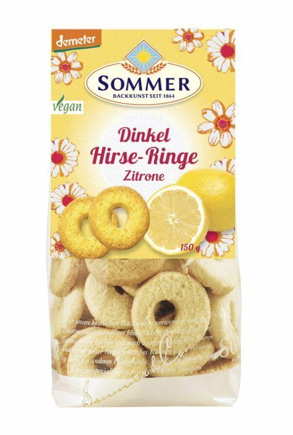 Sommer & Co.  Demeter Dinkel Hirse-Ringe Zitrone 6x150g
