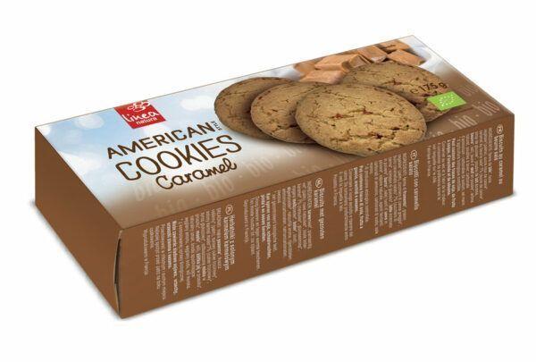 Linea Natura American Caramel Cookies 8x175g