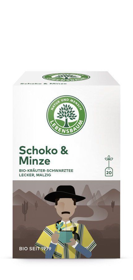 LEBENSBAUM Schoko & Minze 40g