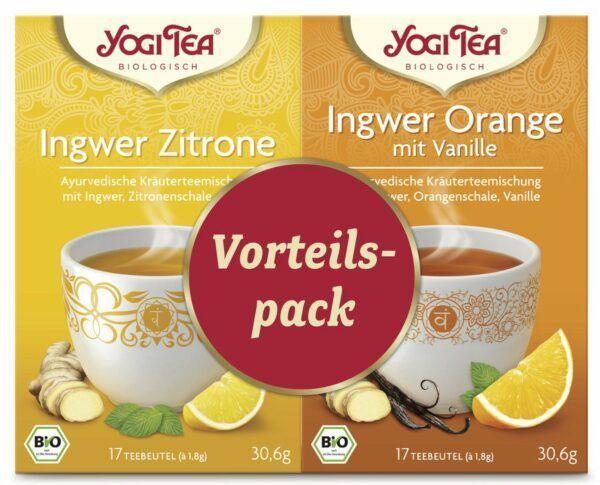 Yogi Tea ® Vorteilspack Ingwer Zitrone / Ingwer Orange mit Vanille Bio 6x2St