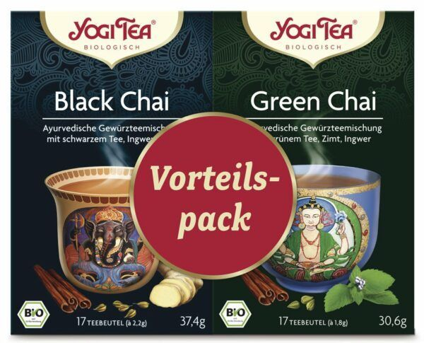 Yogi Tea® Vorteilspack Black Chai / Green Chai Bio 6x2St