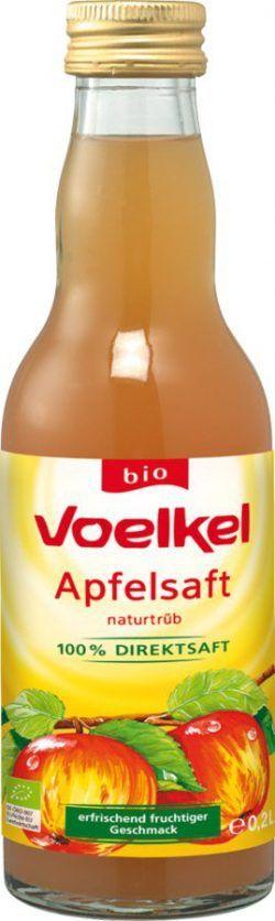 Voelkel Apfelsaft, naturtrüb - erfrischend fruchtiger Geschmack 0,2l