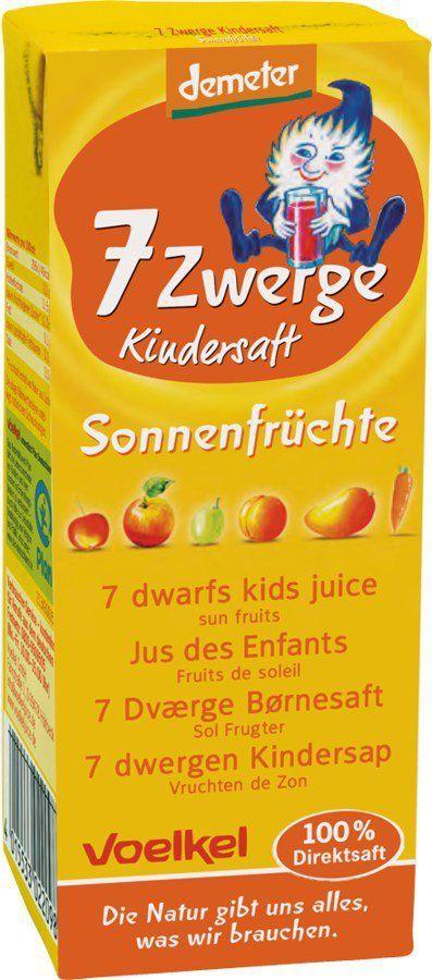 Voelkel 7 Zwerge Kindersaft - Sonnenfrüchte 10x0,2l