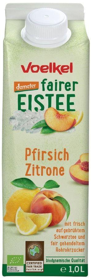 Voelkel fairer Eistee Pfirsich Zitrone, demeter 6x1l