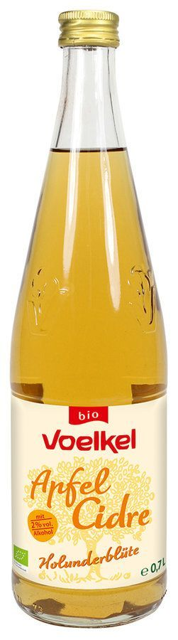 Voelkel Apfel Cidre Holunderblüte - mit 2% vol. Alkohol 6x0,7l
