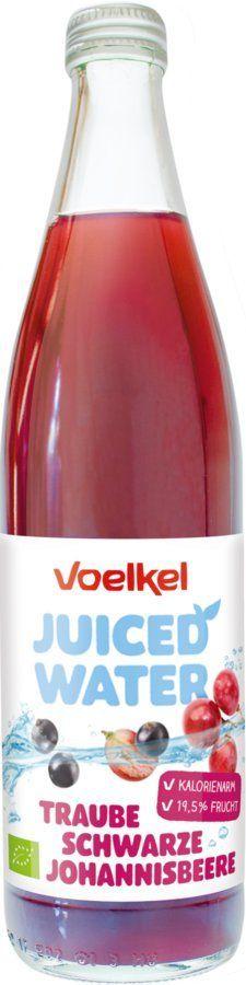 Voelkel Juiced Water Traube Schwarze Johannisbeere 10x0,5l