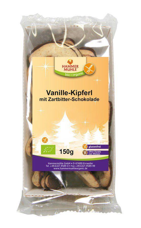Hammermühle organic Vanille-Kipferl mit Zartbitterschokolade 6x