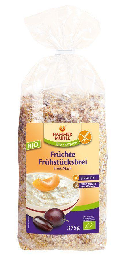 Hammermühle organic BIO Früchte-Frühstücksbrei glutenfrei 6x375g