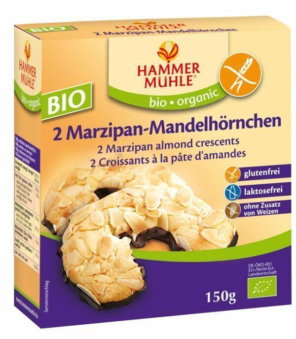 Hammermühle organic BIO Mandelhörnchen glutenfrei, 2 Stück 6x150g