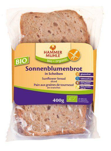 Hammermühle organic BIO Sonnenblumenbrot in Scheiben glutenfrei 4x400g