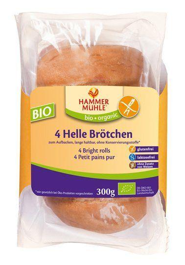 Hammermühle organic BIO Helle Brötchen glutenfrei, 4 Stück 6x300g