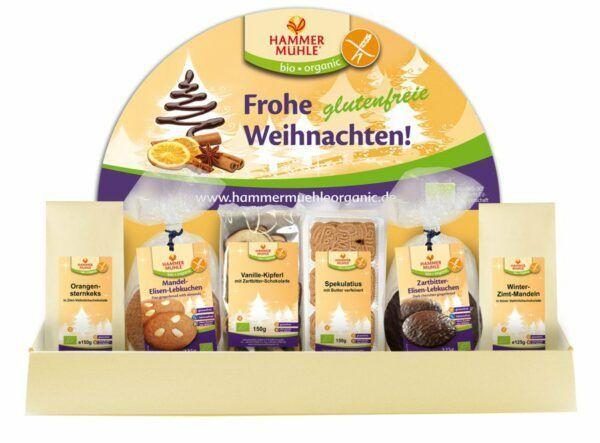 Hammermühle organic BIO Weihnachtsdisplay glutenfrei