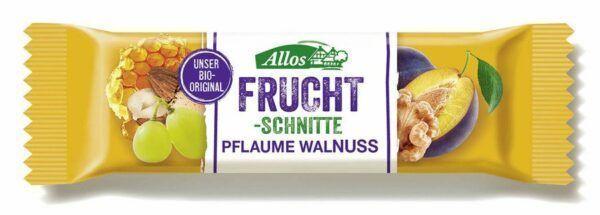 Allos Fruchtschnitte Pflaume Walnuss 25x30g