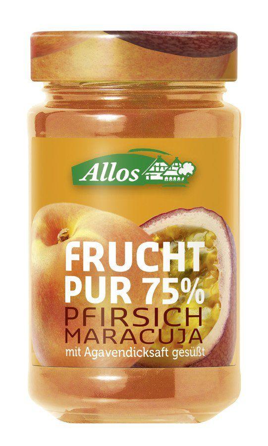 Allos Frucht Pur 75% Pfirsich-Maracuja 6x250g