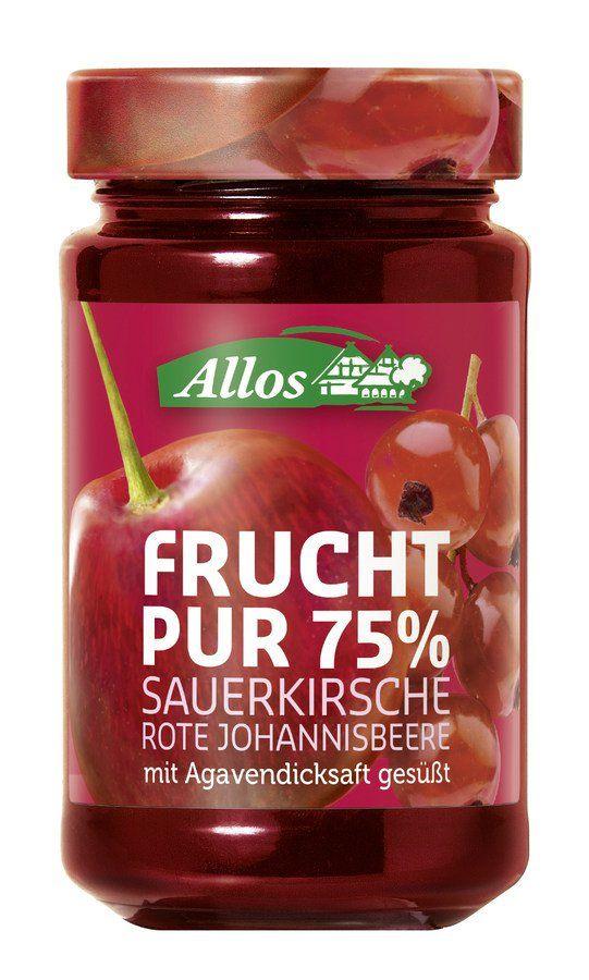 Allos Frucht Pur 75% Sauerkirsche-Rote Johann. 6x250g
