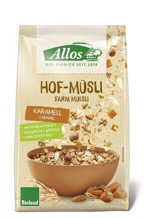 Allos Hof-Müsli Karamell 6x375g