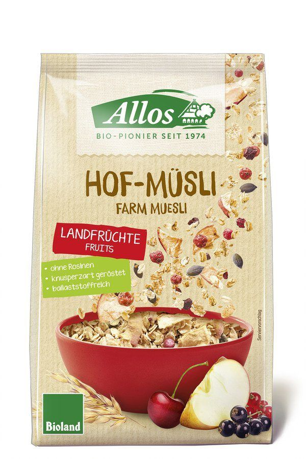 Allos Hof-Müsli Landfrüchte 6x375g