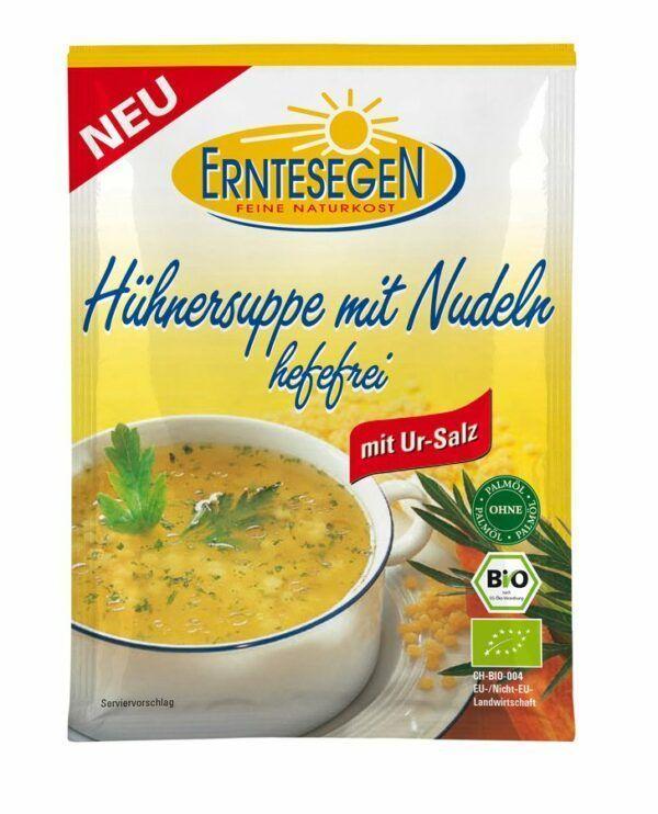 Erntesegen Hühner Suppe mit Nudeln hefefrei 12x40g