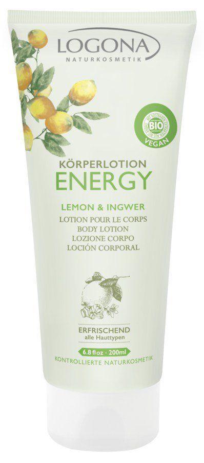 Logona ENERGY Körperlotion Lemon & Ingwer 200ml