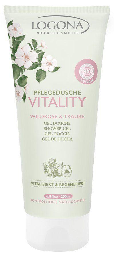 Logona VITALITY Pflegedusche Wildrose & Traube 200ml