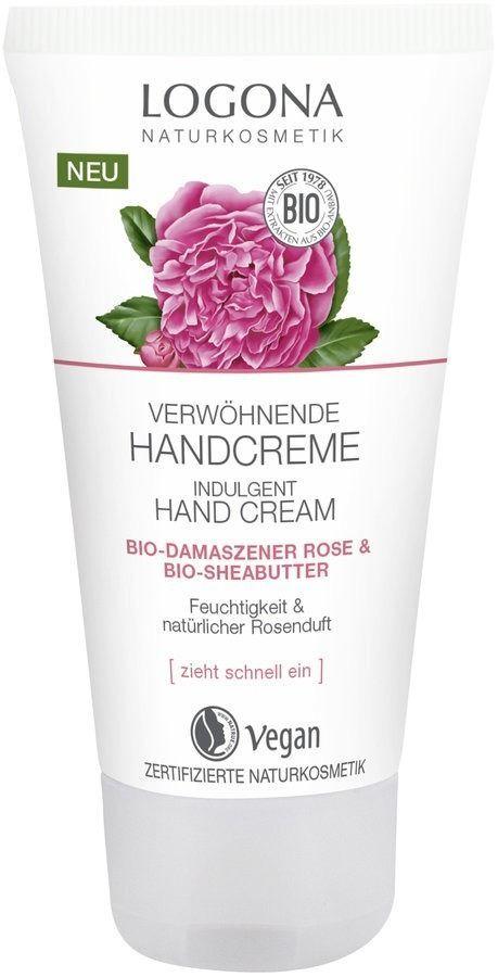 Logona Verwöhnende Handcreme Bio-Damaszener Rose & Bio-Sheabutter 50ml