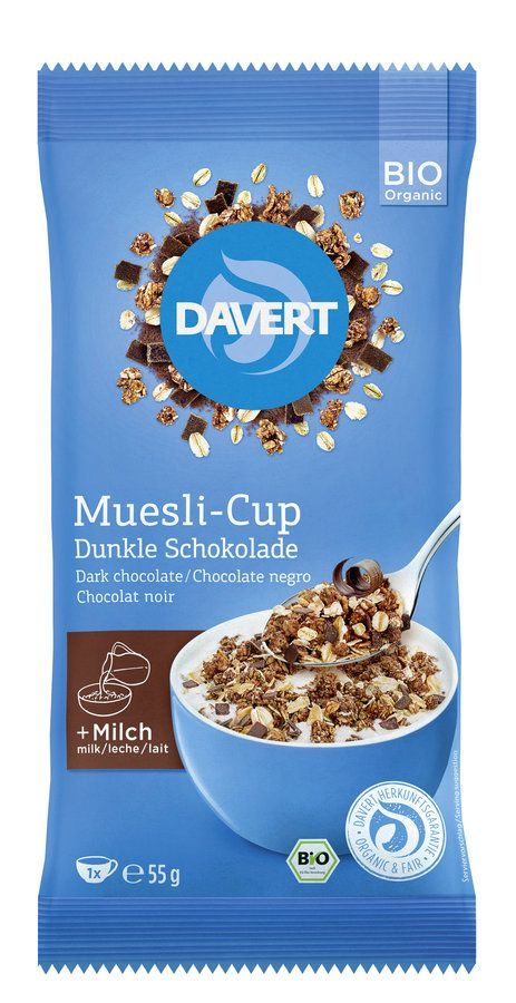 Davert Muesli-Cup Dunkle Schokolade 55g 8x55g