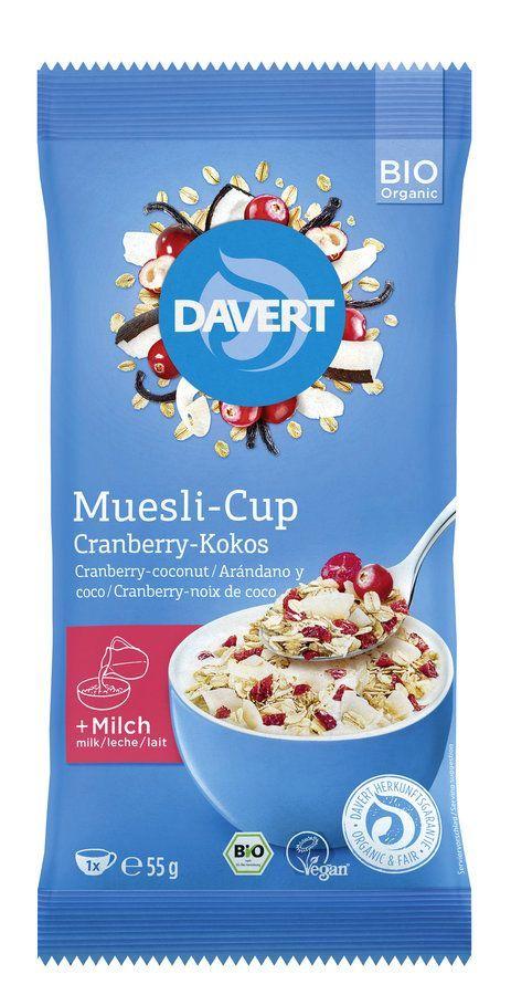 Davert Muesli-Cup Cranberry-Kokos 8x55g