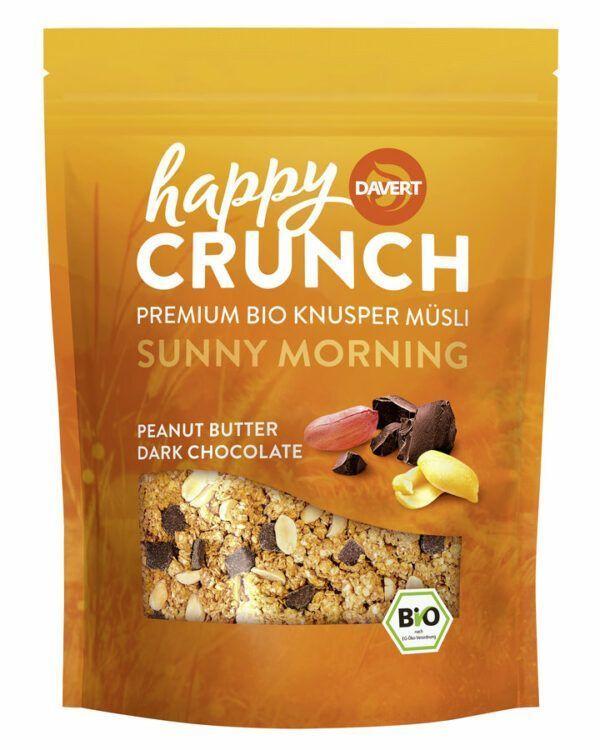 Davert Happy Crunch - Sunny Morning - Peanut Butter Dark Chocolate 7x325g