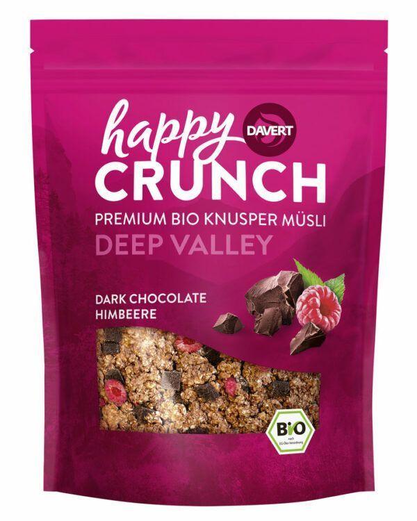 Davert Happy Crunch - Deep Valley - Dark Chocolate Himbeere 7x325g