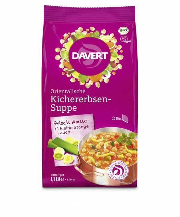 Davert Orientalische Kichererbsen-Suppe 170g 6x170g