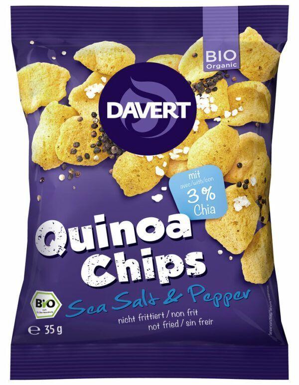 Davert Quinoa Chips Sea Salt & Pepper 35g 9x35g