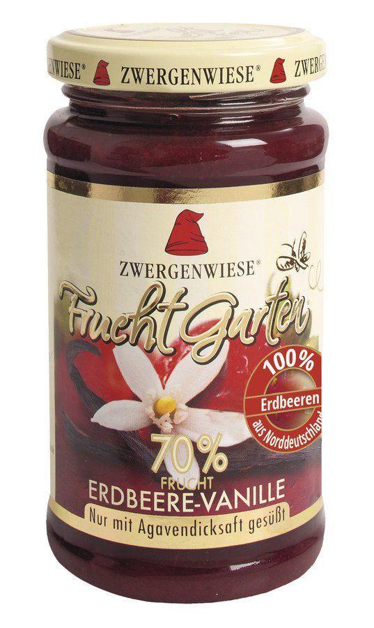 Zwergenwiese FruchtGarten Erdbeere-Vanille 225g