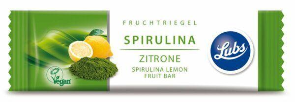 Lubs  Spirulina Zitrone Fruchtriegel 25x40g