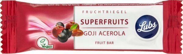 Lubs Superfruits - Goji Acerola Fruchtriegel 25x40g