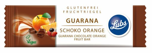 Lubs  Guarana Schoko Orange Fruchtriegel 25x40g