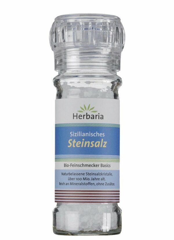 HERBARIA Sizilianisches Steinsalz Mühle 6x100g